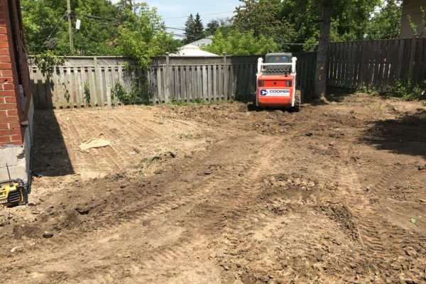 backyard grading