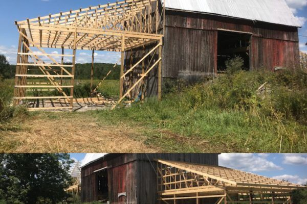 Barn addition framing stage