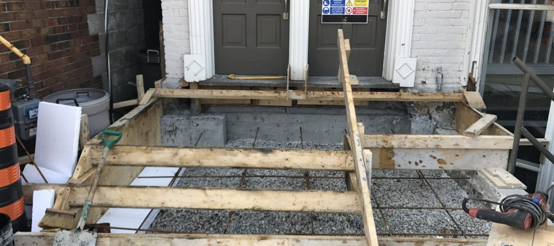 concrete stairs framing