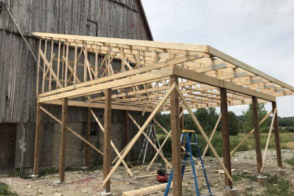 Barn framing construction