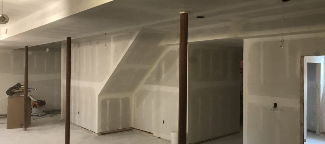 drywall stage of renovation