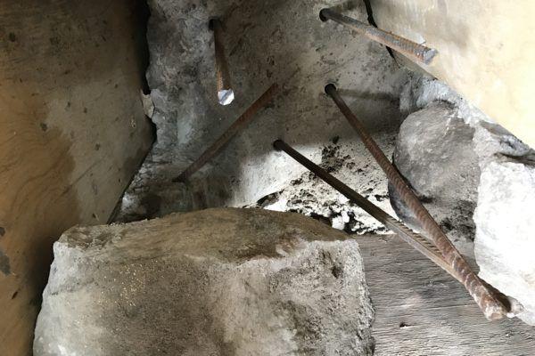 load bearing wall tie-in